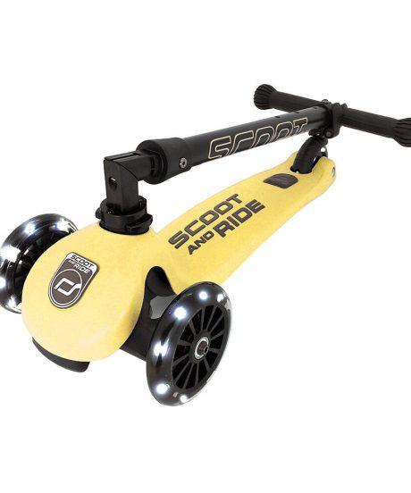 Scoot&Ride® Otroški skiro Highwaykick 3 LED Lemon