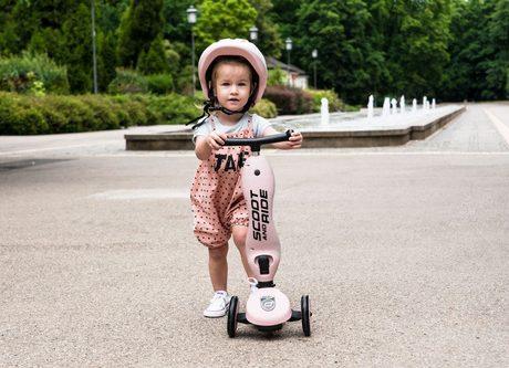 Scoot&Ride® Otroški poganjalec in skiro Highwaykick 1 Rose