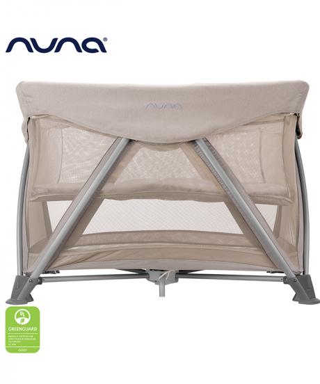Nuna® Prenosna posteljica Sena™ Aire + rjuha Champagne