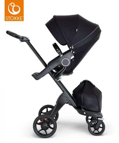 Stokke® otroški voziček Xplory® V6 Black - Black, Black Handle